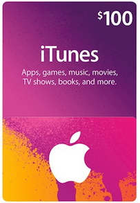 itunes gift card instant email delivery