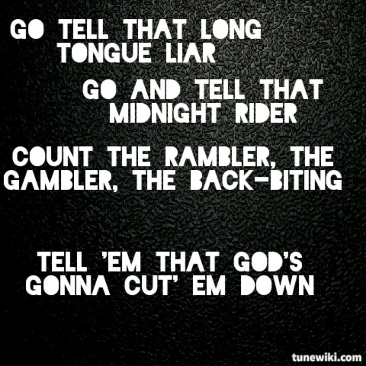 God\'s gonna cut you down - JOHNNY CASH | Journal - Lyrics ...