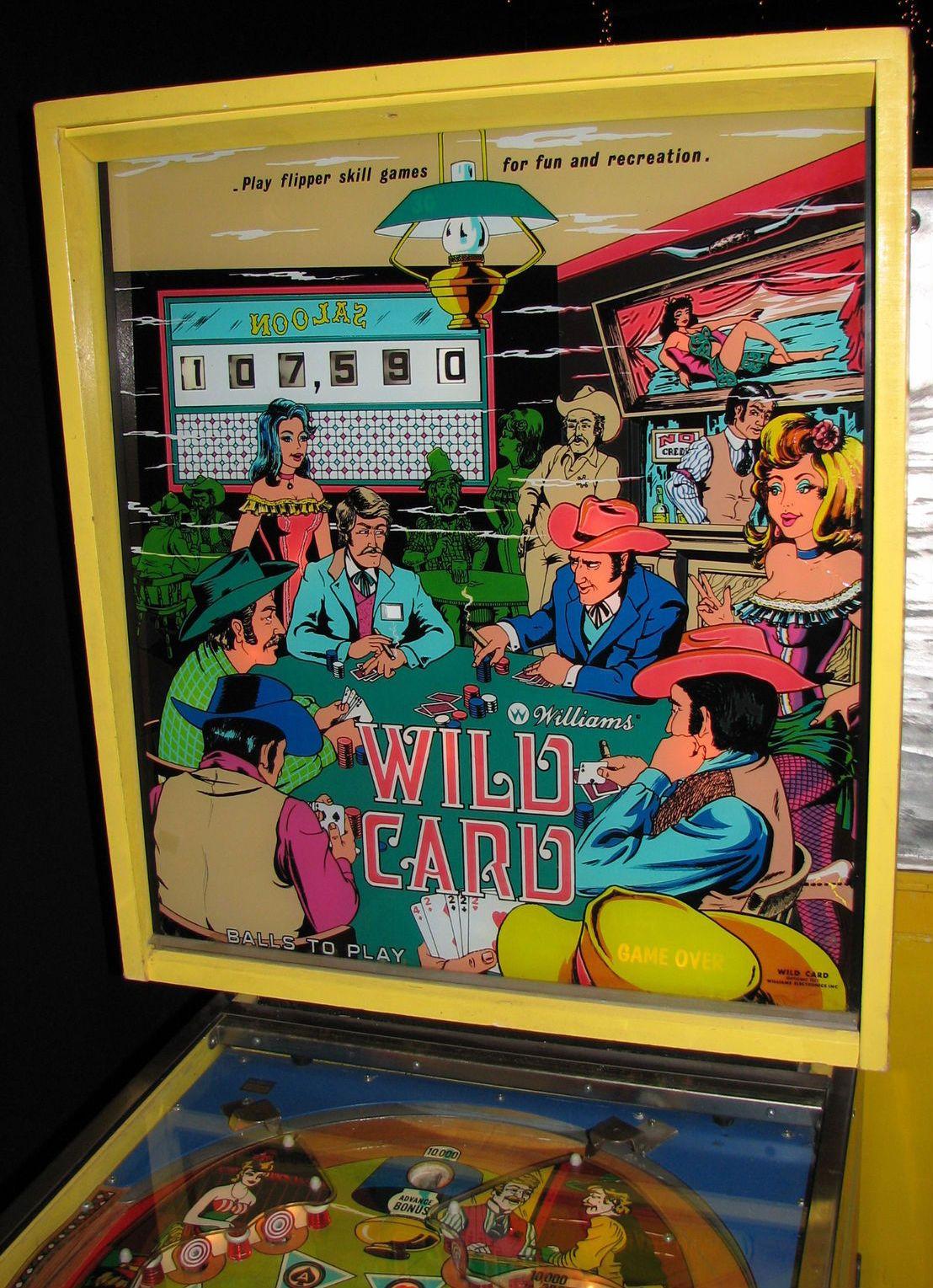 Wild Card Backglass Pinball art, Pinball, Wild card