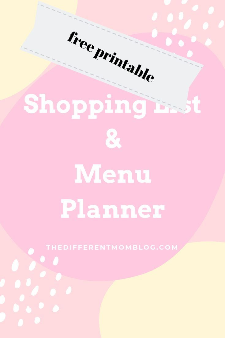 Make grocery shopping easy with this free menu planner and shopping list    #printables #grocery #groceries #groceryshopping #grocerybudget #list #freeprintable #momlife #savemoney #savetime