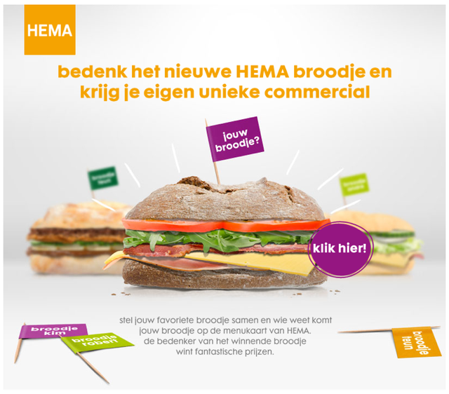 New co-creation campaign for HEMA (Dutch)
