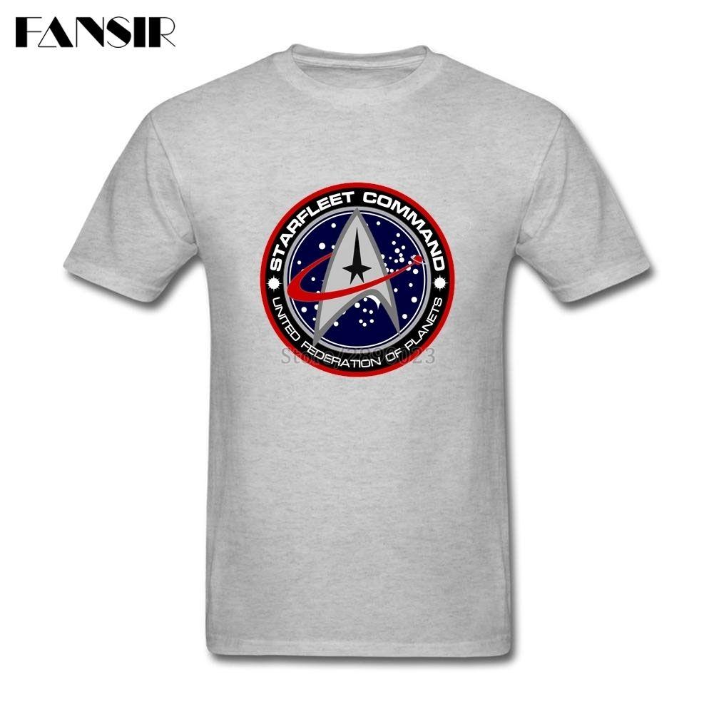 c46b356770e6 Star Trek Logo Men T Shirt New Designing T Shirt Men's Short Sleeve Cotton  Custom Plus Size Summer Tees For Guys #Affiliate