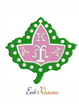 Alpha Kappa Alpha Ivy Leaf Embroidery Design Embroidery Designs Simple Embroidery Designs Ivy Leaf
