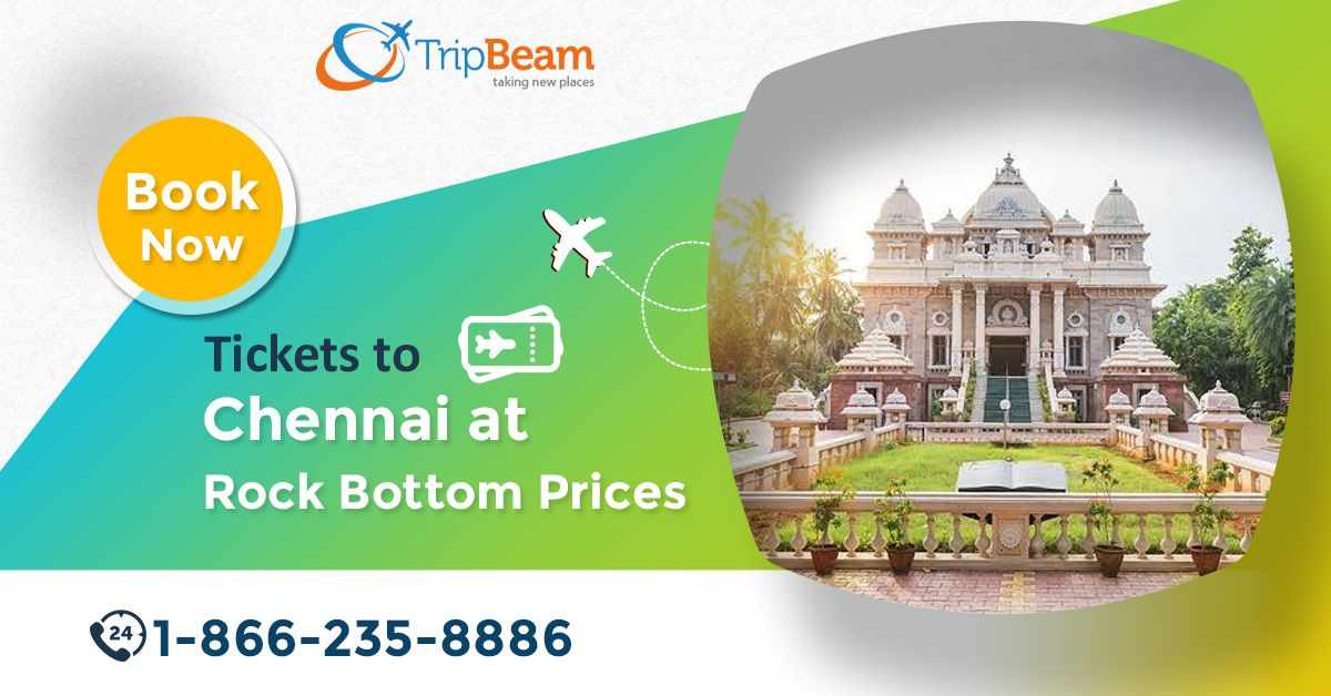 Book your flights at an affordable price from #USA to #Chennai, India. Get ready to take advantage of high discounts on flight tickets with #Tripbeam.   For more information: Contact us at: 1-866-235-8886 (Toll-Free).   #travel #bookchennaiflights #flightstochennai #CheapFlightDeals #ChristmasDeals #FlightDeals #TravelDeals #Vacation #Destination #Chennaitravel #Traveltips
