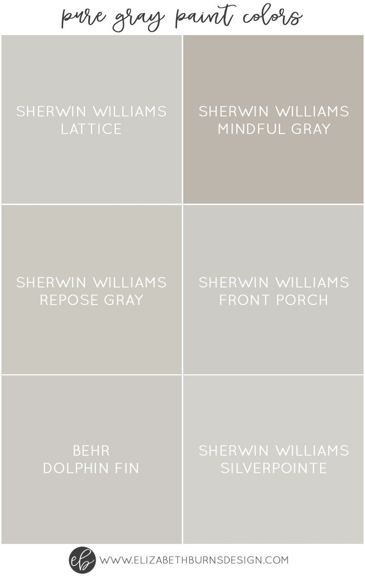 Elizabeth Burns Design Pure Gray Paint Colors Sherwin Williams Lattice Mindful