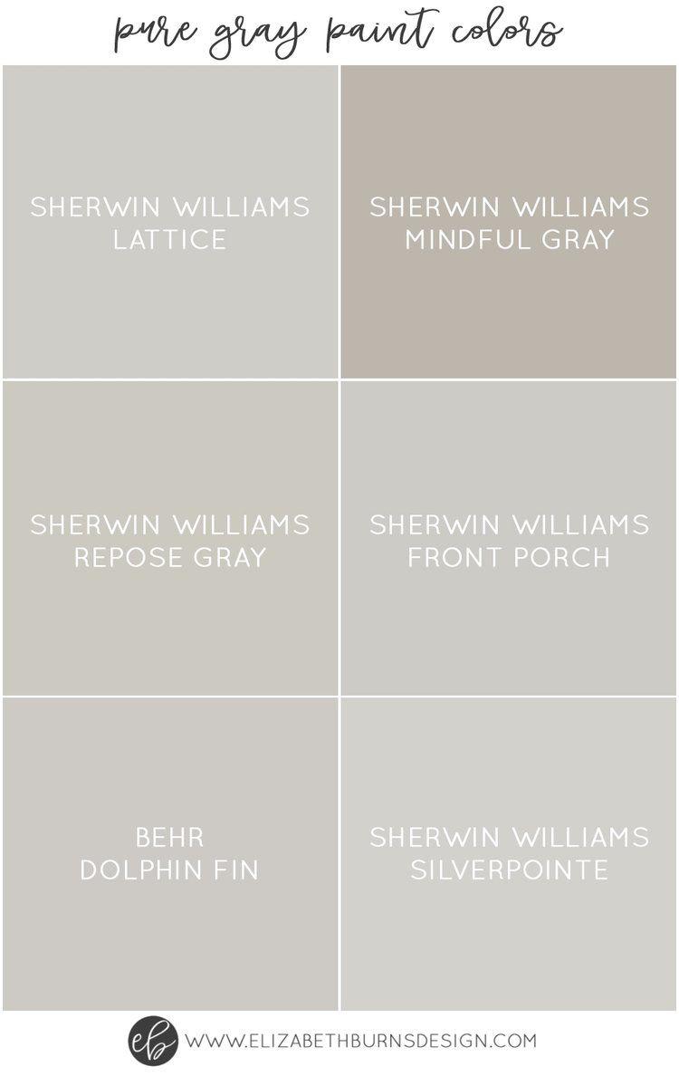 The Best Pure Grey Paint Colors Paint Guide Elizabeth Burns