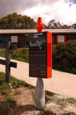 For Buro NorthThe Falls Creek Alpine Resort required the development of a wayfinding system to help visitors navigate the complex ski resort. I was brought on with Buro North to interpret their concept for the Falls Creek way finding signage system. Th…