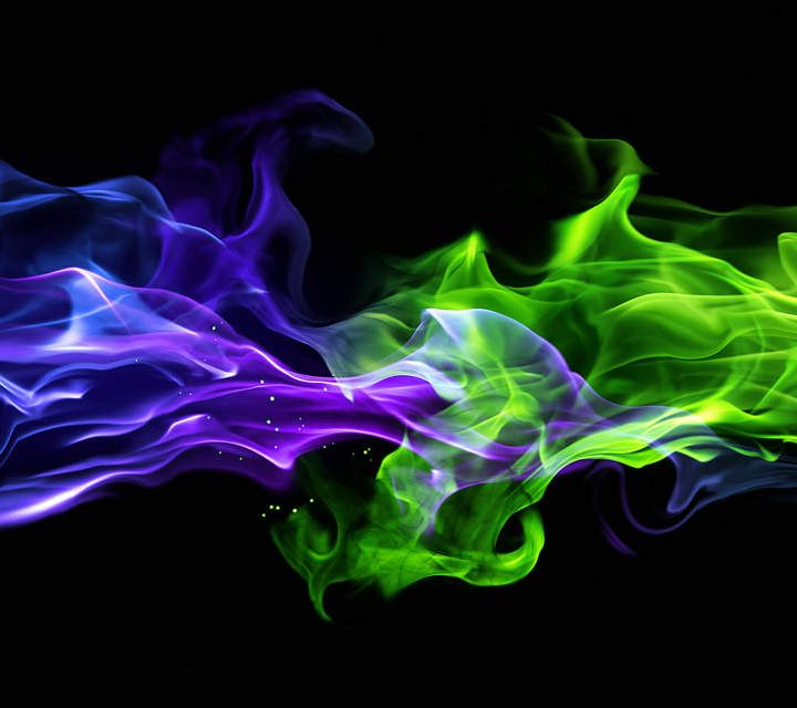 Smoke Painting, Wallpaper Space, Neon Wallpaper