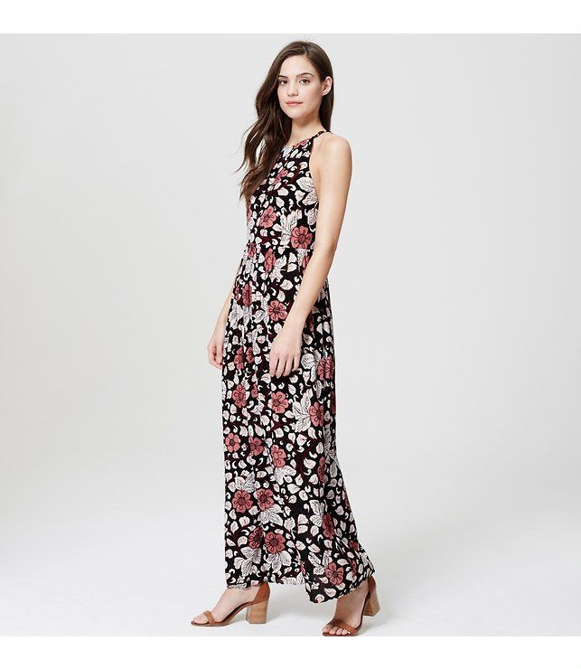 Loft Beach Rainforest Floral Strappy Maxi Dress ($90)