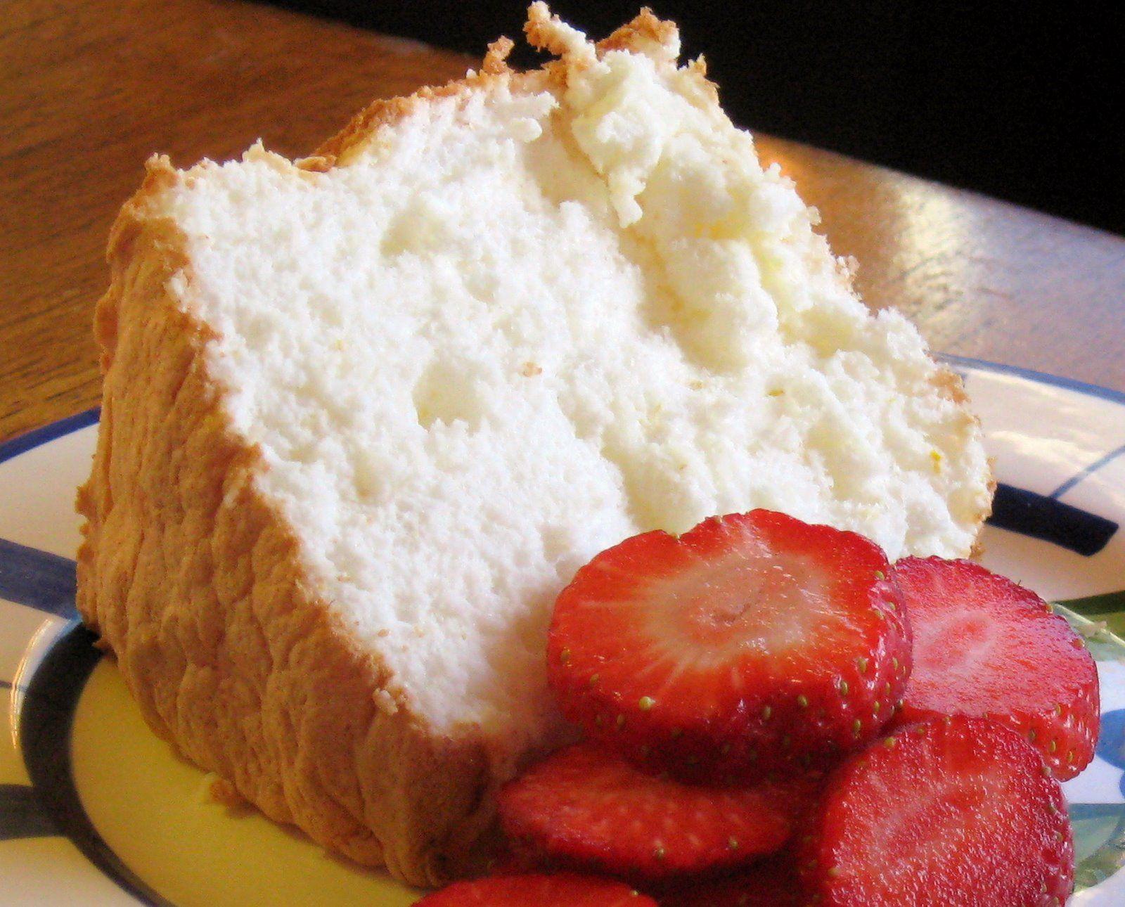 Gluten free lemon angel food cake recipe with images
