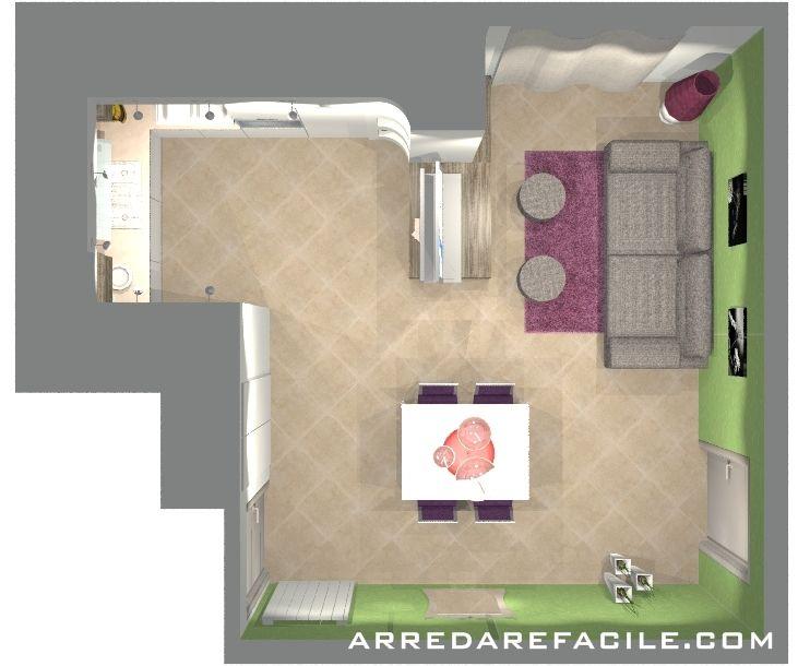 Cucina e soggiorno in 26 mq il blog di arredarefacile for Cucina soggiorno 15 mq