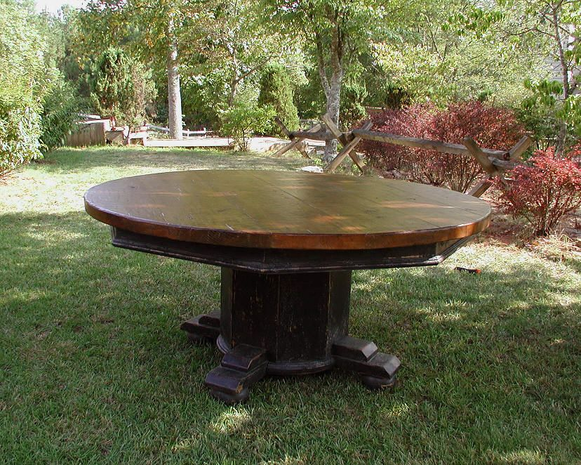 "64"" Round Pedestal Table   w/ optional lazy Susan"