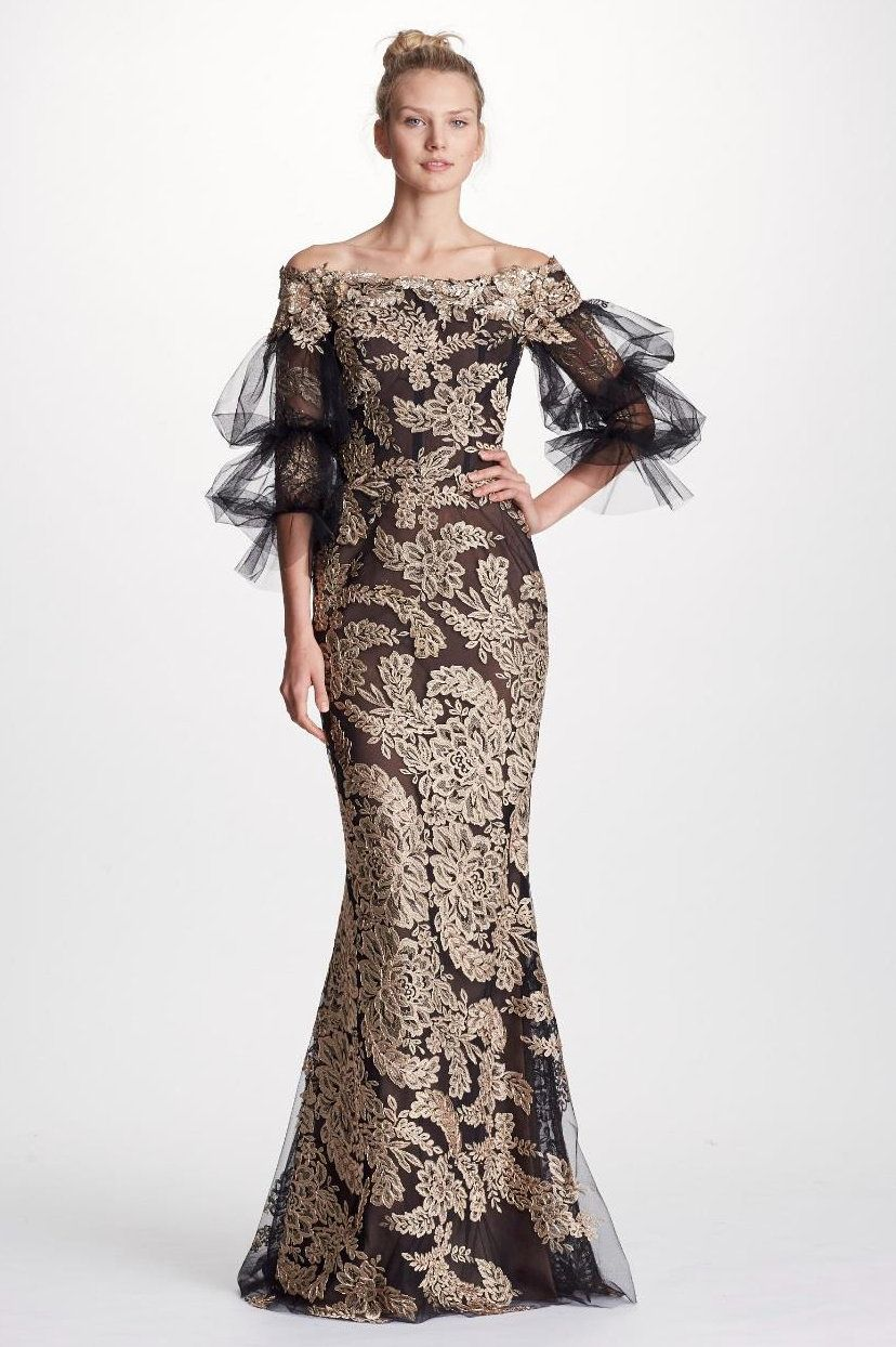 61a55ba6552 MARCHESA COUTURE OFF SHOULDER METALLIC ROSE GOLD CORDED LACE GOWN. #marchesa  #cloth #