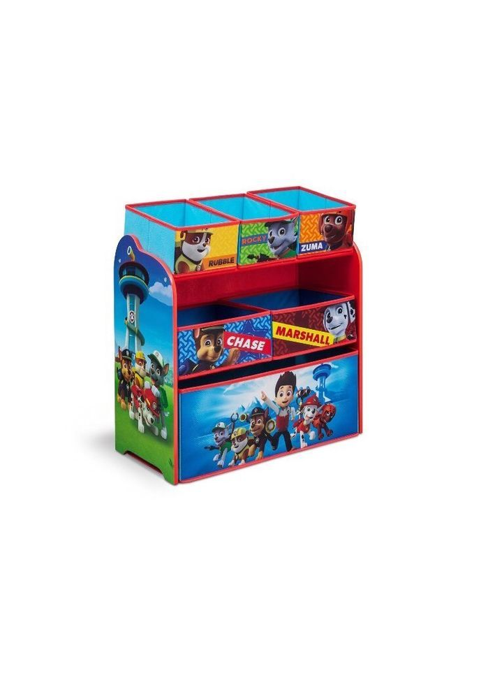 Paw Patrol Toy Organizer Bin Cubby Kids Child Storage Box
