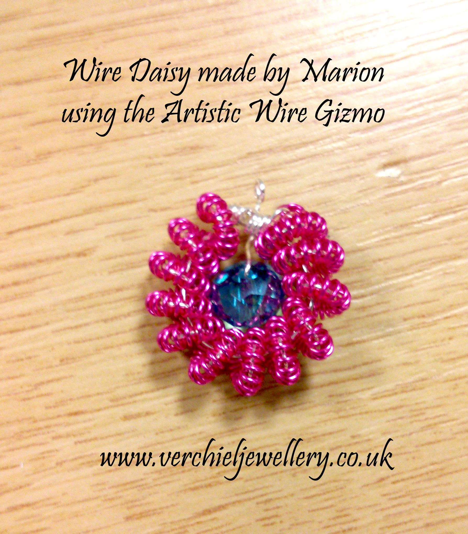 Daisy Bead Made By Marion Using The Artisitc Wire Gizmo Workshop How To A Run Verchiel Jewellery