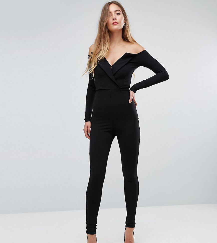8726e0e5356 Missguided Tall Bardot Tuxedo Jumpsuit - Black