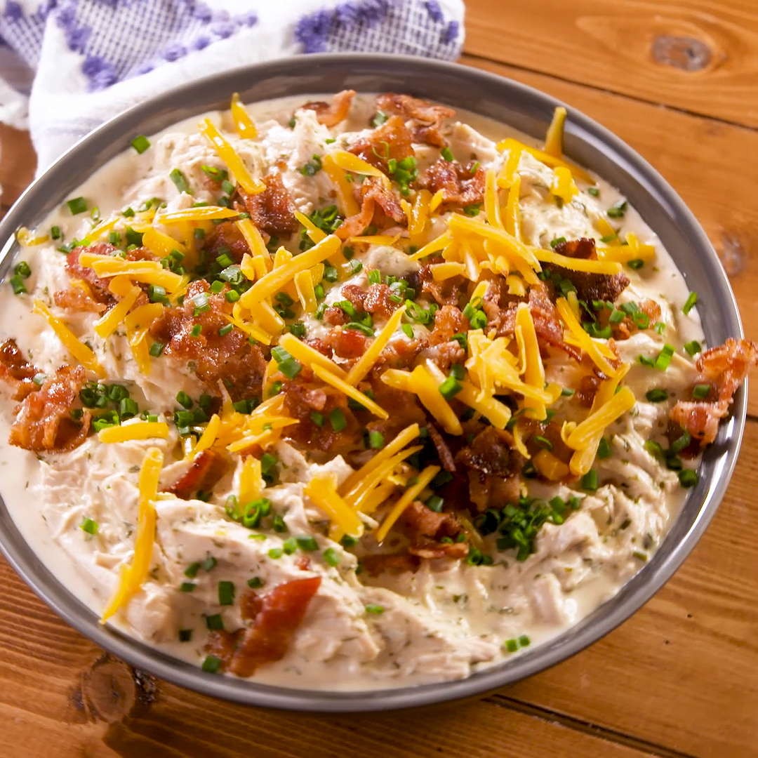 Even if you're not on the keto train, this creamy Crock-Pot chicken is still worth making. The ranc