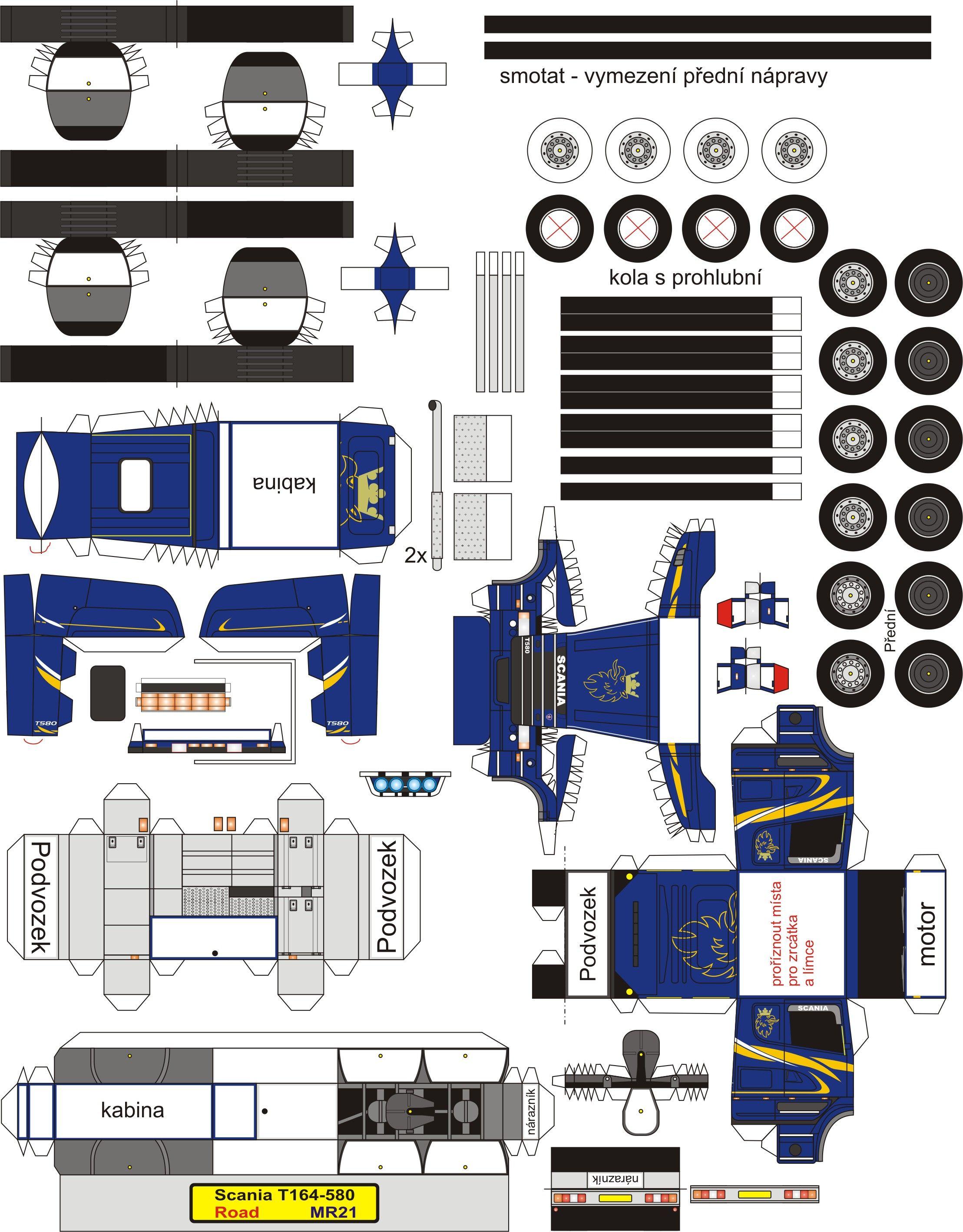 Papercraft Diorama Mr21 Scania T164 580 2217 2836 Paper Trucks Cosas De Papel Sobres De Papel Carretilla