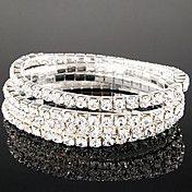 Lureme simples Row cristais pulseira elástica – BRL R$ 5,20
