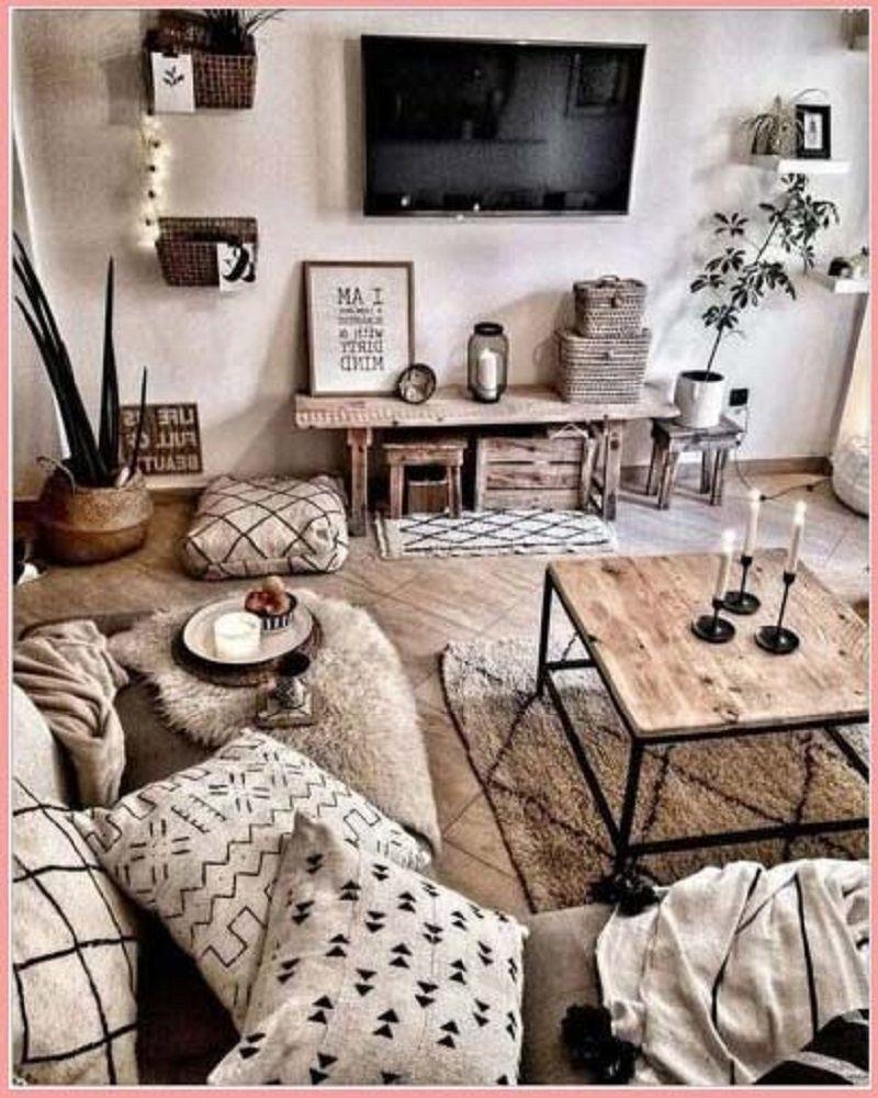 10 Popular Modern Farmhouse Living Space Decoration Suggestion