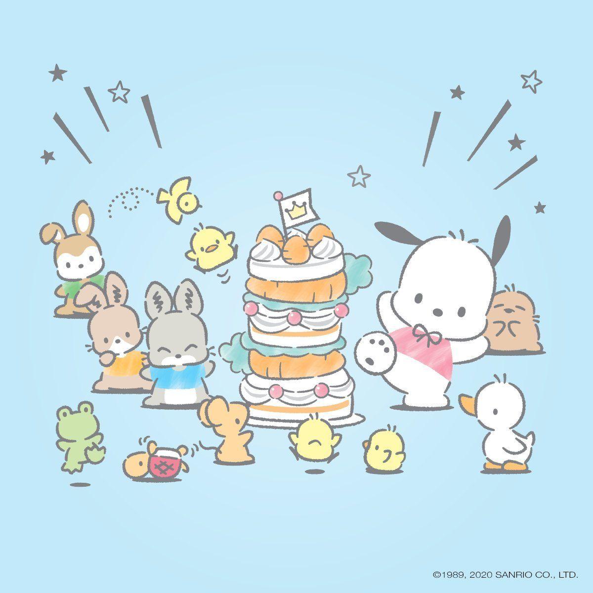 Happy birthday Pochacco in 2020 Hello kitty characters