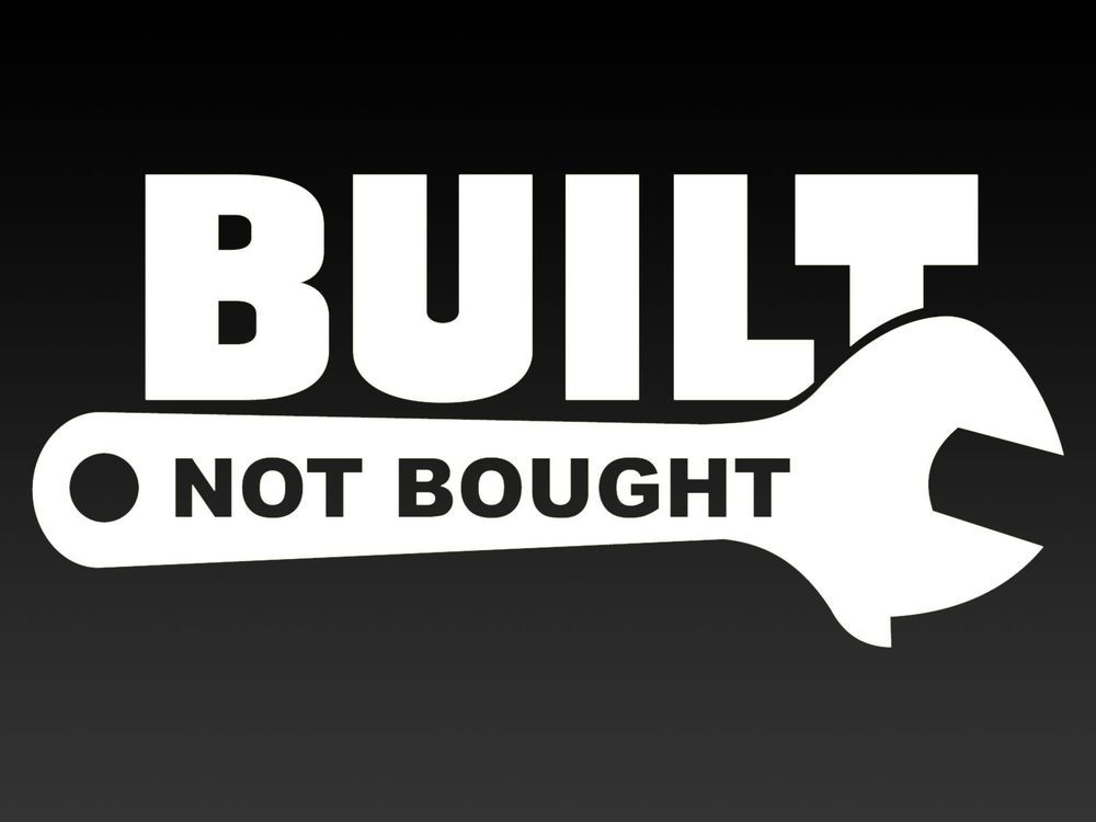 Built not bought 200mm funny car vinyl sticker decal ebay