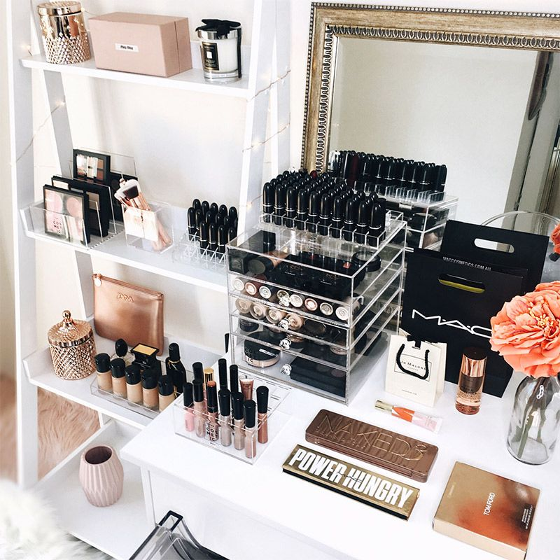 Stylish and affordable cosmetic storage, vanity decor