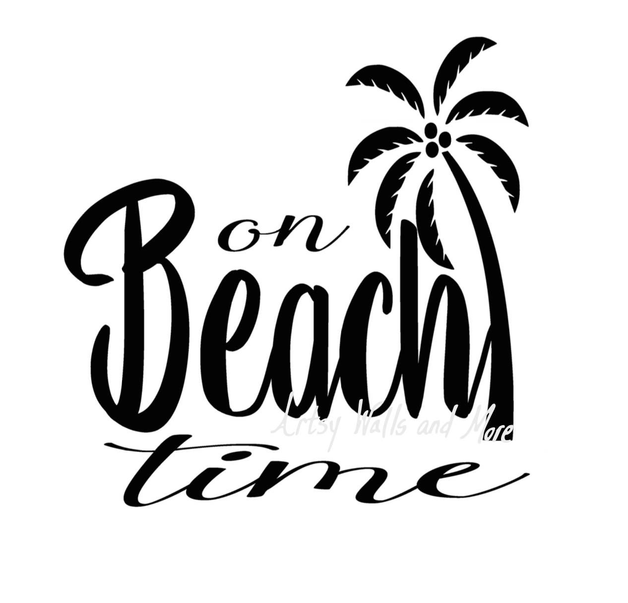 On Beach Time Svg I M On Beach Time With Palm Tree Svg