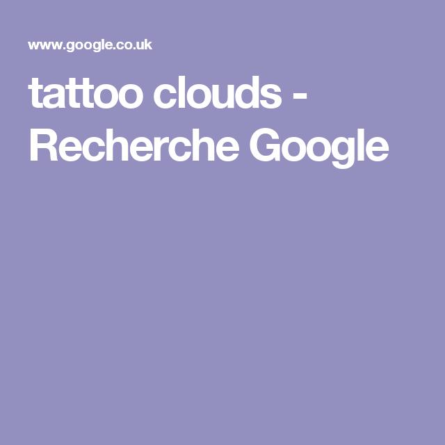 tattoo clouds - Recherche Google