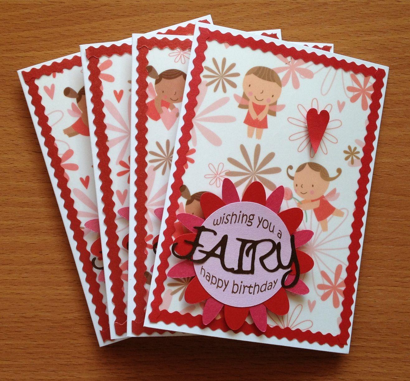 Fairy happy birthdayu fairy theme card handmade cards for girls