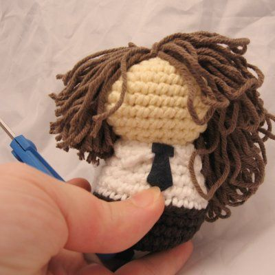 Creepy Cute Coiffure: Making and attaching hair   NeedleNoodles ...