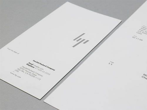 HP's new identity design by Moving Brands