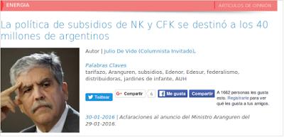 Piedra On Line.-: La política de subsidios de NK y CFK se destinó a ...