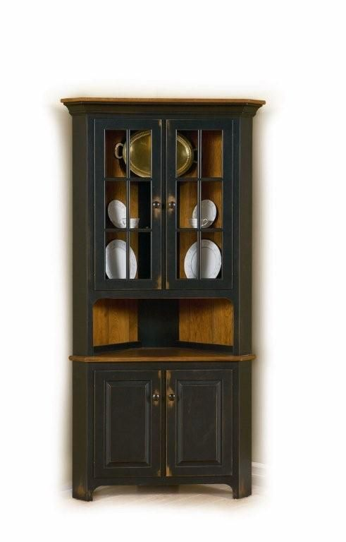 Amish Plymouth Corner Hutch  Corner Hutch Drawers And Decorating Alluring Corner Hutch Dining Room Design Ideas