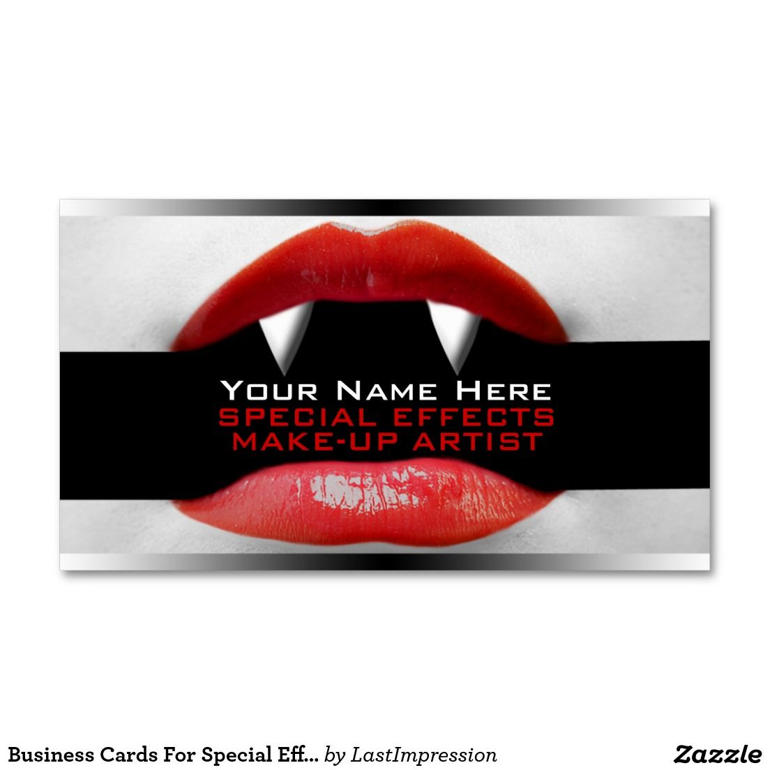 Business cards for special effects makeup artists zazzle