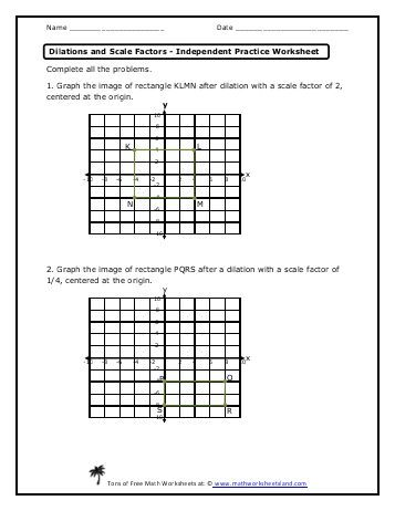 Area Of Rectangles In Word Problems Independent Practice With