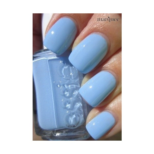 My favorite color: baby blue. Essie Nail Polish Light Blue Nails ...
