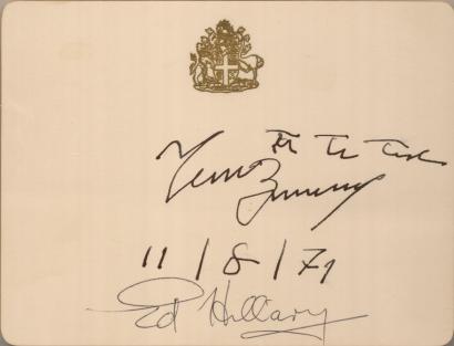 Edmund Hillary Tenzing Norgay Autographs Signed Signatures Tenzing Norgay Edmund Hillary Historical Letters