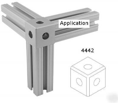 8020 t slot aluminum tri corner connector 15 s 4442 n