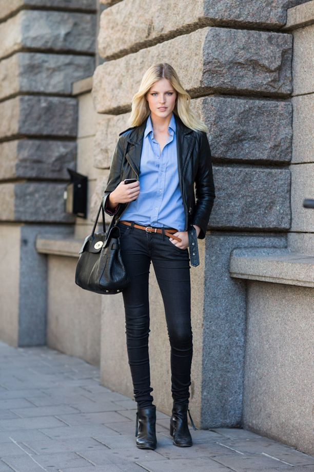 Light Blue Shirt Outfit Inspiration. | The look | Pinterest ...