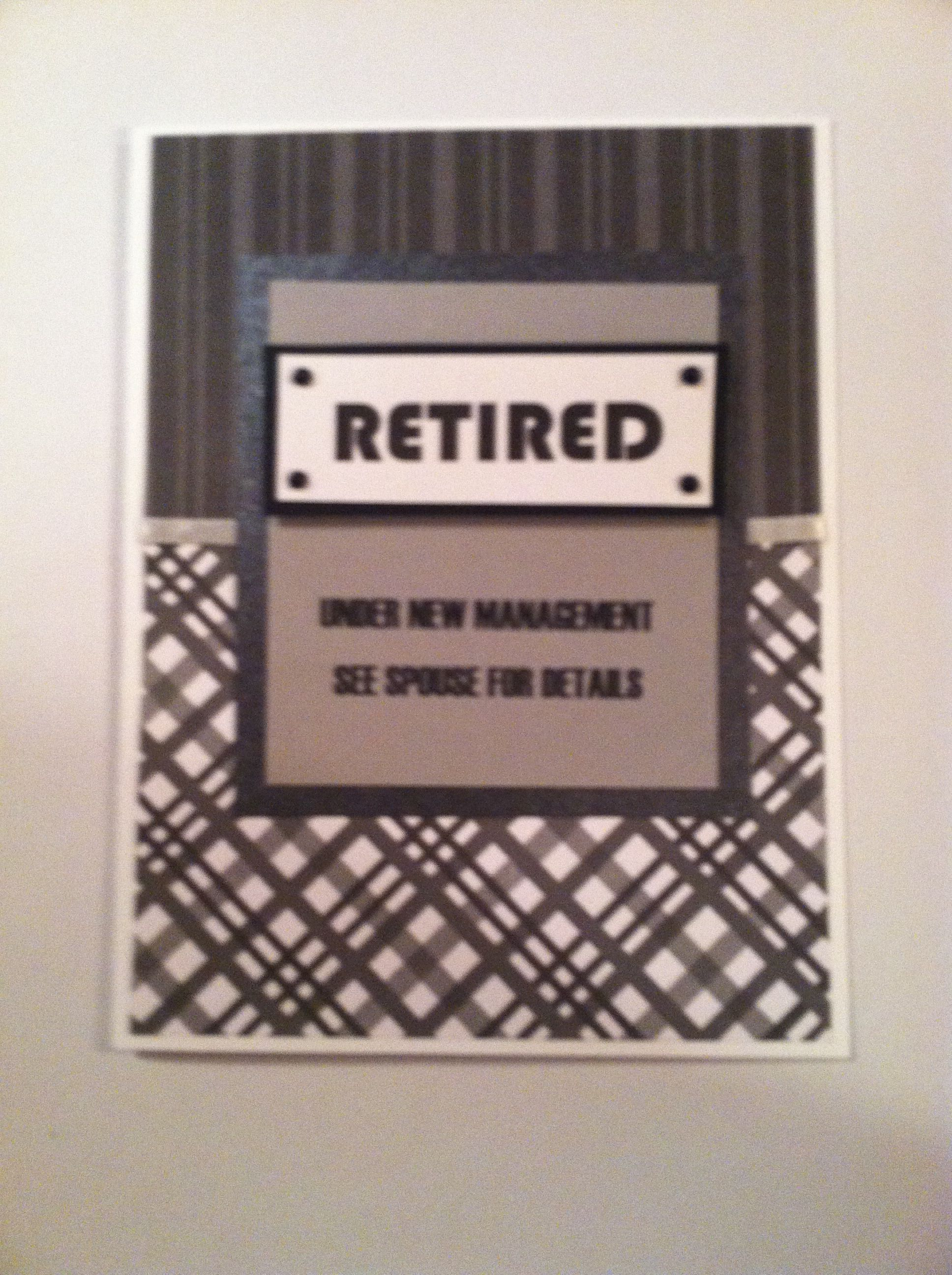 Retirement Card Cards Pinterest Retirement cards Cards and