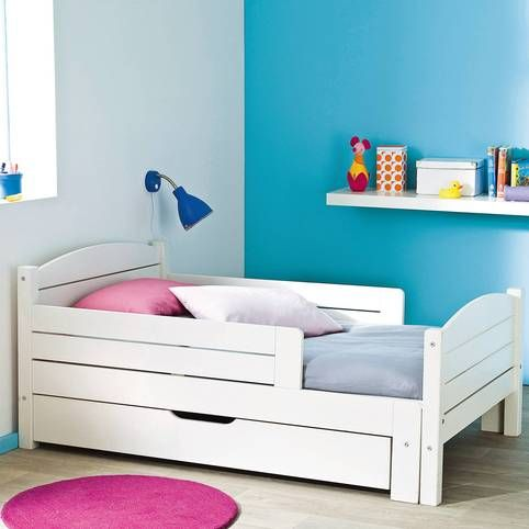 lit volutif pour enfant d s 4 ans certifi fsc blanc vue 1 chambre enfant pinterest. Black Bedroom Furniture Sets. Home Design Ideas