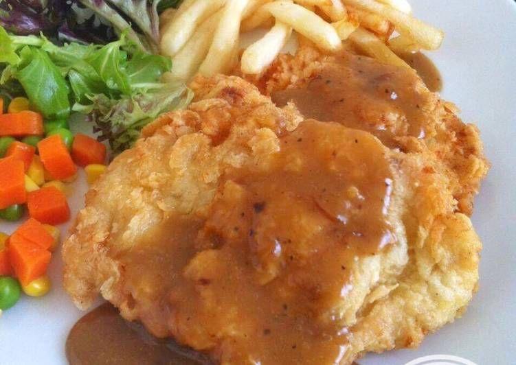 Resep Steak Ayam Crispy Oleh Fitri Sasmaya Resep Resep Steak Makan Malam Makanan Dan Minuman