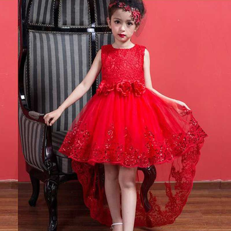 Red Royal Highness Kids High Low Party Dress Dresses