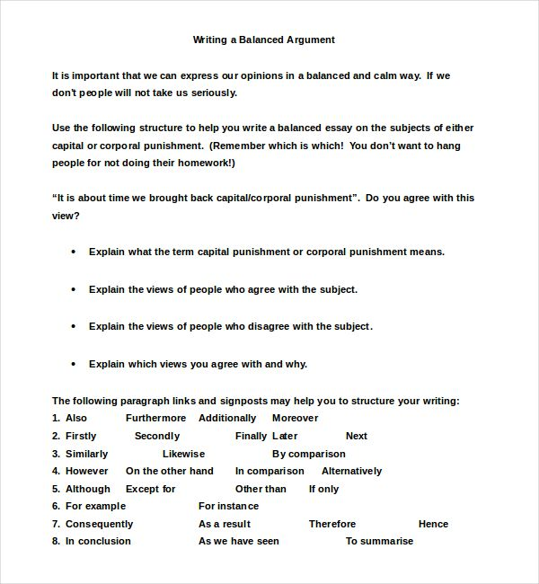 Balanced Argumentative Essay Example  Business