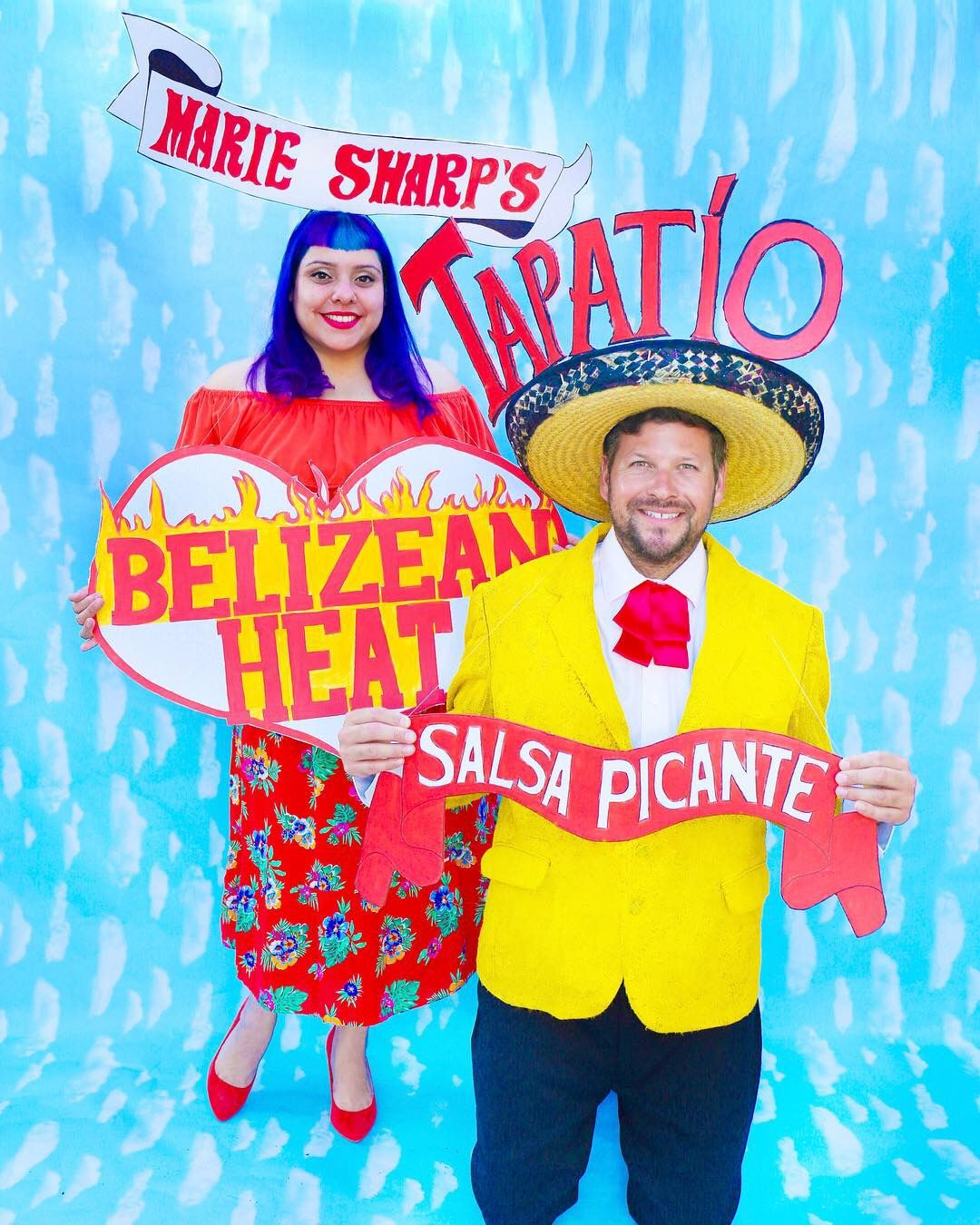 Hot Sauce Couples Halloween Costume Tapatio And Marie Sharps By