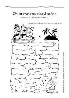 DISCÍPULOS DE JESUS - ATIVIDADES | ´¯`··._.·Blog da Tia Alê
