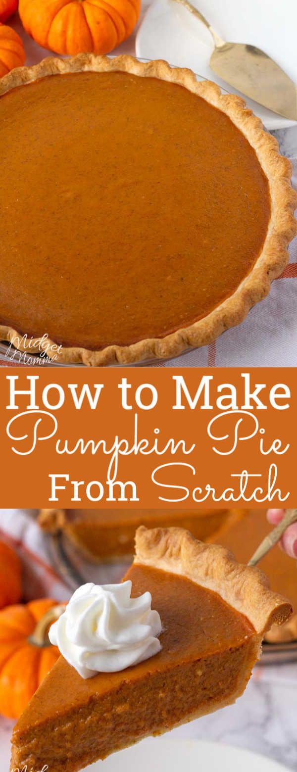 The BEST Homemade Pumpkin Pie! Pumpkin Pie Made from Scratch!