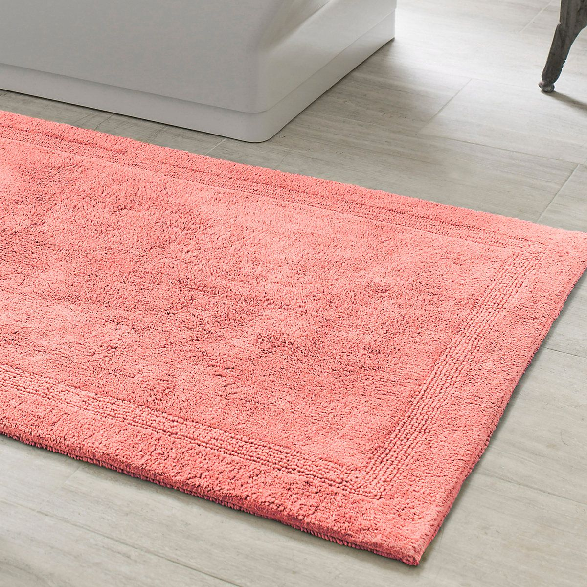 signature coral bath rug | bath rugs and bath