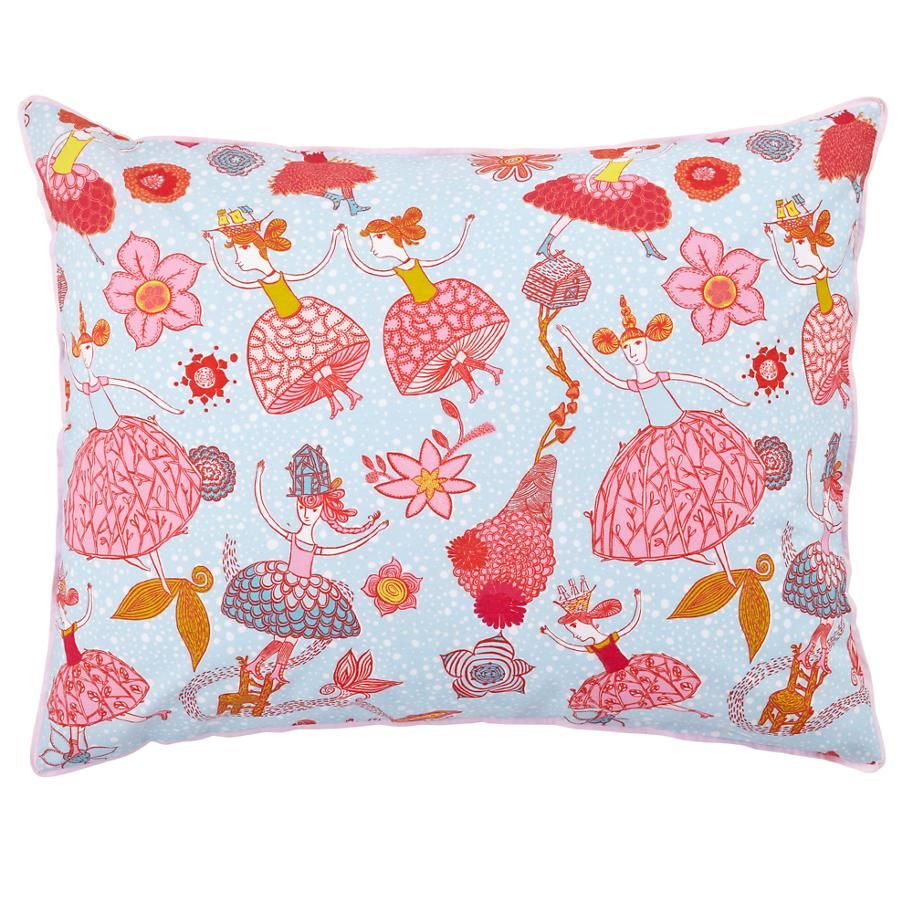 The Land of Nod Pink/Blue Plié Sham in Girl Bedding